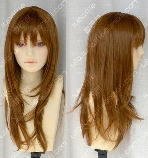 4 Color Youth Girl Office Lady Style Z Skin Top 60cm Brown Wavy Daily Cosplay Party Wig