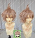 Danganronpa: The Animation Makoto Naegi Salmon Pink Stay Hair Style Short Cosplay Party Wig