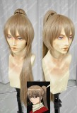 Gintama: The Movie: The Final Chapter: Be Forever Yorozuya Sougo Okita Cork  Cosplay Party Wig W/ Ponytail
