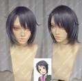 Silver Spoon Gin no Saji Aki Mikage Silver Gray Purple Short Cosplay Party Wig