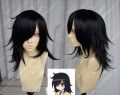 WATAMOTE Tomoko KUROKI Black 40cm Cosplay Party Wig