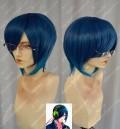 Meganebu! Yukiya Minabe Madonna Blue Short Cosplay Party Wig With Glasses