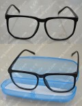 Black Square Glass frame without Glass for Cosplay Party Use