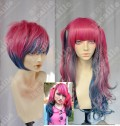 Ayamo Style Tokyo Fashion Red Mix Grey Blue Couples Daily Cosplay Party Wig