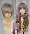 Ayamo Style Tokyo Fashion Rose Mist to Brown Mix Color Couples Daily Cosplay Party Wig