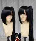 BlazBlue Alter Memory Litichi Faye-Ling Black Ponytail Style Cospaly Party Wig