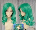 Sailor Moon Sailor Neptune Michiru Kaioh Emerald Green 60cm Center Parting Curly Cosplay Party Wig