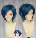 Sailor Moon  Sailor Mercury Ami Mizuno Prussian Blue Short Cosplay Party Wig