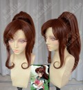 Sailor Moon Sailor Jupiter Makoto Kino Nut Brown Ponytail Cosplay Party Wig