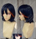 Kill la Kill Ryuko Matoi Dark Blue Purple With Fire Red Hiar Style Cosplay Party Wig