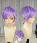 DIABOLIK LOVERS Kanato Sakamaki Lilac Gradient Silver Pink Short Cosplay Party Wig