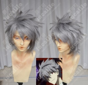 Neon Genesis Evangelion Nagisa Kaworu Storm Gray Short Party Cosplay ... d73cec62c