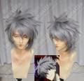 Neon Genesis Evangelion Nagisa Kaworu Storm Gray Short Party Cosplay Wig