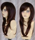 Ayamo Fashion Warm Brown Color 60cm Straight Cosplay lolita Party Wig