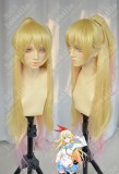 Nisekoi Fake Love Chitoge Kirisaki Golden Gradient Pink Cosplay Party Wig W/ Ponytails