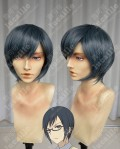 NO-RIN Ringo Kei Kamatori Blue Gray Short Cosplay Party Wig