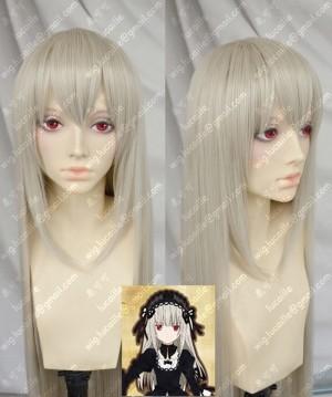 Rozen Maiden Mercury Lampe Suigintou 80cm Silver Mix Golden Cosplay Wig