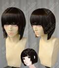 Knights of Sidonia Shizuka Hoshijiro Natural  Brown Black Neet Bang Short Cosplay Party Wig