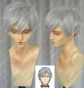 The World is Still Beautiful Neil  Silver Grey Short Cosplay Party Wig