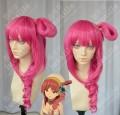 Magi The Labyrinth of Magic Morgiana Ponytail Styled Pink Summer Maharagan Version Cosplay Party Wig