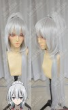 Riddle Story of Devil Akuma no Ridoru Mahiru Banba Silvery White Cosplay Party Wig /W Ponytail