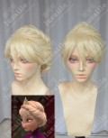 Frozen The Snow Queen Elsa Light Blond Updo Style Cosplay Party Wig