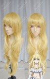 Aldnoah.Zero Asseylum Vers Allusia Naples Yellow 90cm Curly Cosplay Party Wig