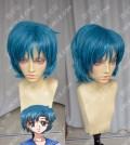 Sailor Moon Crystal Sailor Mercury Ami Mizuno Cerulean Blue Short Cosplay Party Wig