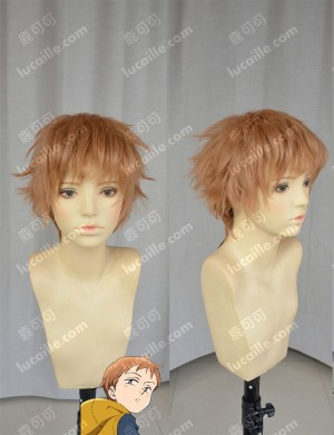 The Seven Deadly Sins King Sahara Brown Short Cospaly Party Wig