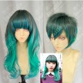Ayamo Style Tokyo Fashion Gradient  Green Color Couples Daily Cosplay Party Wig