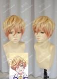 Bonjour♪Koiaji Pâtisserie Gilbert Hanafusa Golden Gradient Coral Short Cosplay Party Wig