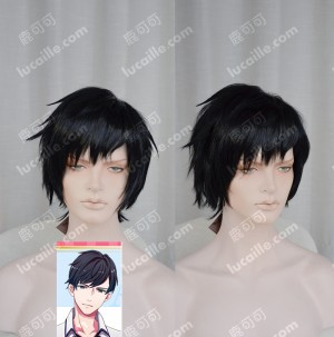 Bonjour♪Koiaji Pâtisserie Jin Aoi Black Short Cosplay Party Wig