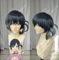 The Rolling Girls Rōringu Gāruzu Ai Hibiki BlueBlack Gradient MintCream One Ponytail Style Short Cosplay Party Wig