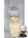 Tohken Sword Rambu -ONLINE-Nakigitsune Moon Gray Short Cosplay Party Wig