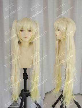 European Lolita Style Princess Lightgolden Ponytails Cosplay Party Wig