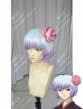 Rin-ne yōkai no Rinne Tamako Silver Gradient Light Purple Short Cosplay Party Wig