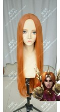 League of Legends Leona Raw Sienna Center Parting 100cm Curly Cosplay Party Wig