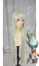 League of Legends Janna Darkseagreen Mix Burlywood 100cm Straight Cospaly Party Wig