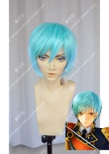 Tohken Sword Rambu -ONLINE-Ichigohitofuri Horizon Blue Short Cosplay Party Wig