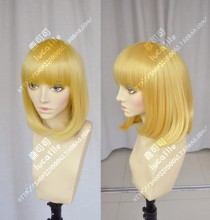 Prison School Hana Midorikawa Chrome Yellow Short Cosplay Party Wig