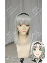 Shimoneta: A Boring World Where the Concept of Dirty Jokes Doesn't Exist Anna Nishikinomiya Frosty Gray Short Cosplay Party Wig