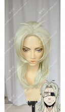 Gangsta. Worick Arcangelo Center Parting 40cm Lime Yellow Cosplay Party Wig