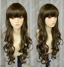 Natural Colour Office Lady Style Wavy Daily Cosplay Party Wig