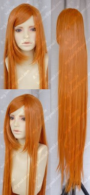 150cm Straight Orange Cosplay Party Wig