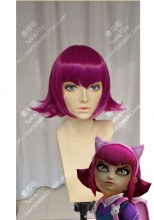 League of Legends Annie Orchid Purple Mix Raspberry Red Short Cospaly Party Wig
