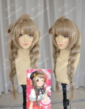 Love Live! Minami Kotori Ponytail Style Cork Color 80cm Straight Cosplay Party Wig