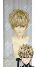 One-Punch Man Demon Cyborg Genos Straw Short Cosplay Party Wig