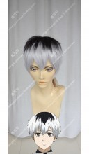 Tokyo Ghoul Haise Sasaki Top Black Gradient Silver Pink Short Cosplay Party Wig