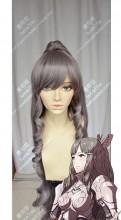 Fire Emblem: Awakening Sumia Smia Dove Gray Mix Rose Mist 100cm Curly Ponytails Cosplay Party Wig
