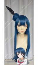 Love Live! Sunshine!! Tsushima Yoshiko RoyalBlue Mix Black 60cm Bun Style Cosplay Party Wig